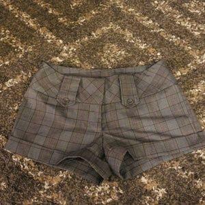 Grey plaid shorts